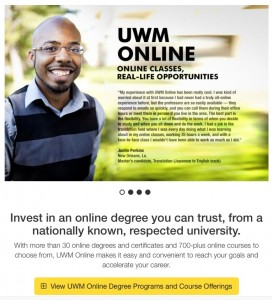 UWM-Online-website